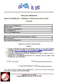 Modulo Iscrizione PDF