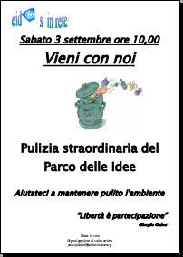 Pulizia Parco 3 Settembre 2011