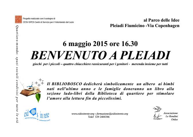 Benvenuto a Pleiadi 2015