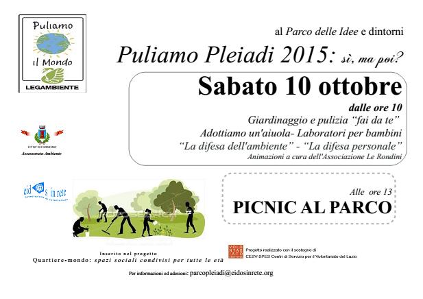 Puliamo Pleiadi 2015