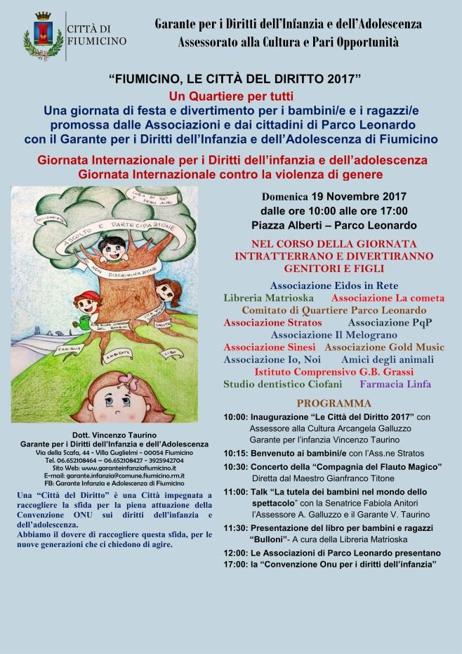 FIUMICINO, LE CITTÀ DEL DIRITTO 2017