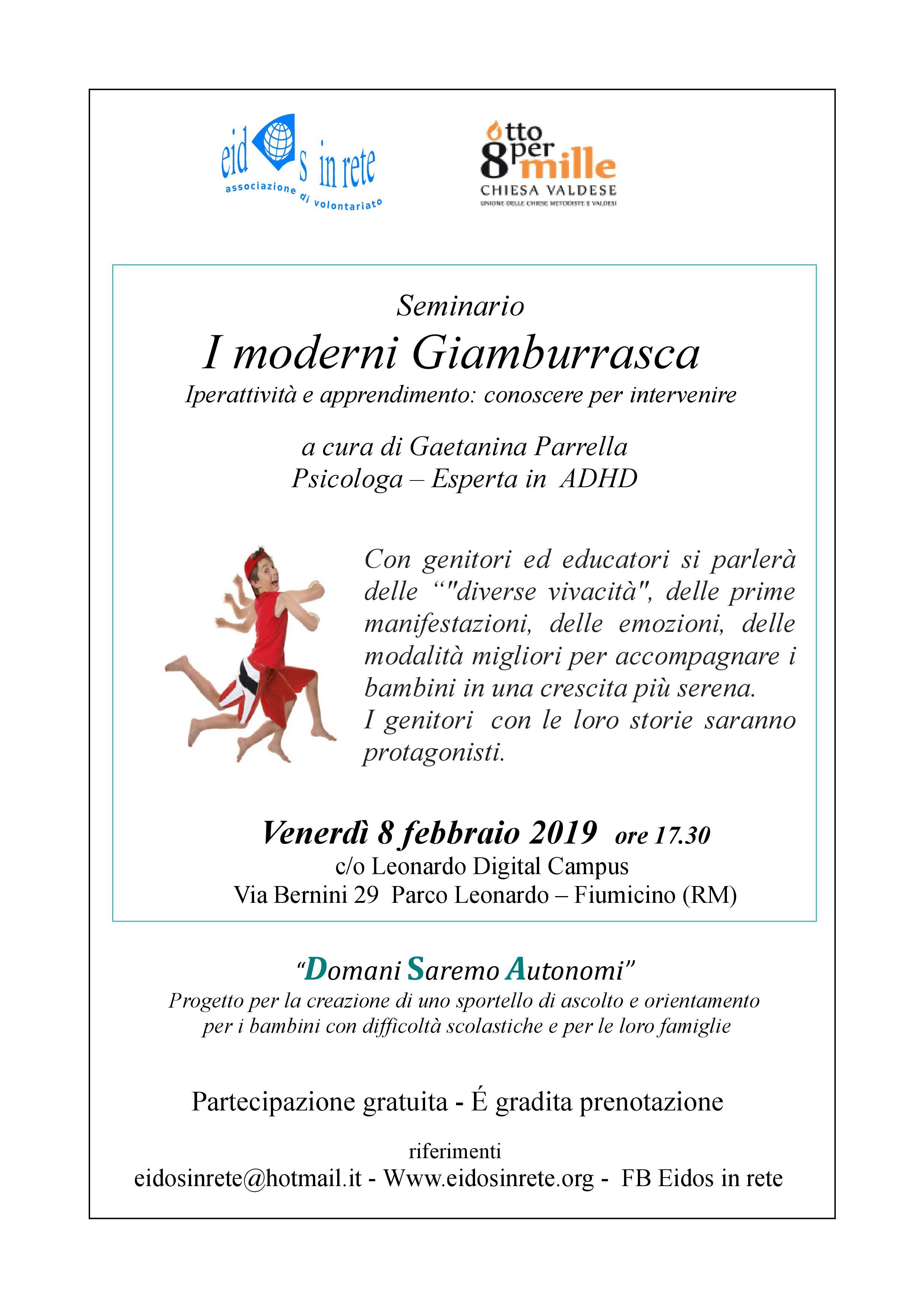 Seminario I moderni Gianburrasca